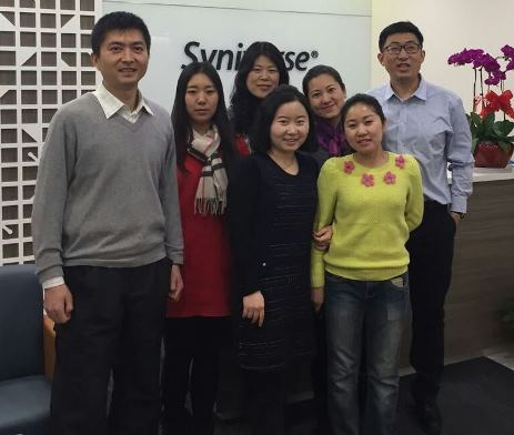 Me (left) and some members of our Beijing office team who visited New Day Foster Home.