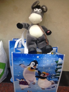 A new stuffed animal and other toy donations await some special children.