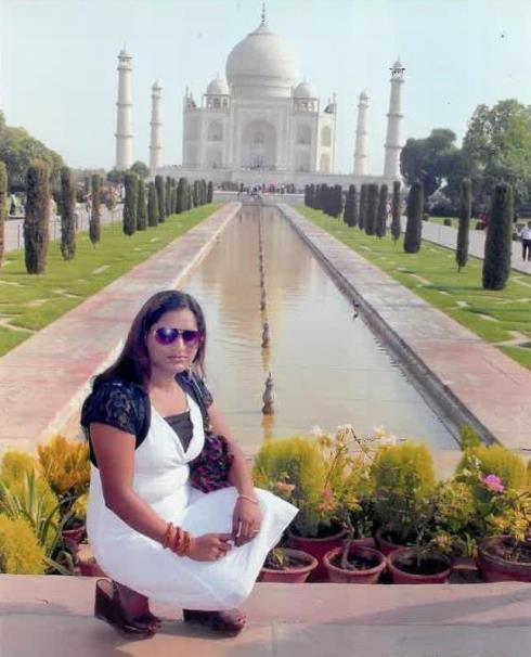 At the Taj Mahal in Agra, India.