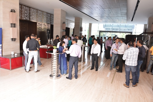 Attendees enjoy one of the many networking sessions and tea breaks we held throughout the day.