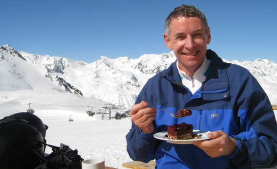 I try to stay fit, but on a trip to Obergurgl, in the Austrian Alps, I couldn't resist the local chocolate torte.