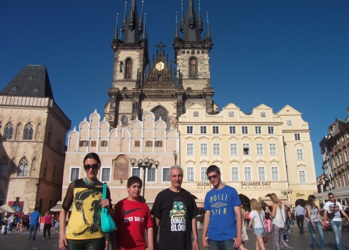 Visiting the heart of Prague, also as part of the same vacation from above.