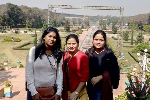Me (right) visiting the historic city of Mysore, India, with my sister (center) and a friend.