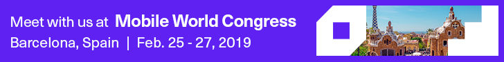 Meet with us at MWC 2019